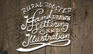 hand drawn lettering and illustration